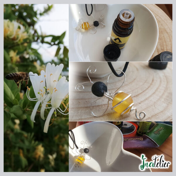 Colier aromaterapie uleiuri esentiale Albinuta Parfumata