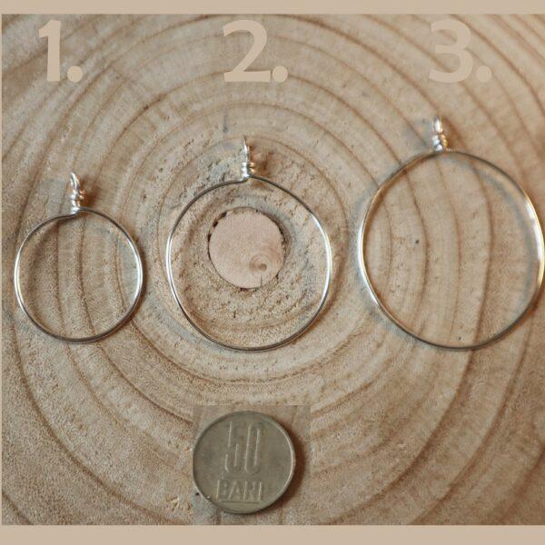 Baza rotunda bijuterie cupru suflat cu argint